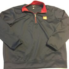 Isuzu Truck Employee Jacket Coat Navy Red 1/4 Zip Antiqua Men's XL Poly/Spandex