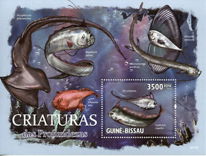 Guinea-Bissau Fish Stamps 2010 MNH Deep Sea Creatures Fishes Marine 1v S/S