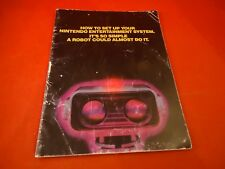 Nintendo Entertainment System NES ROB Console System Instruction Manual R.O.B. B