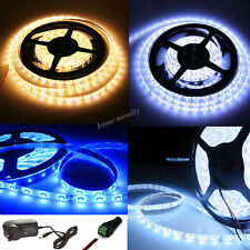 1/2/3/5 Meter LEDs Strip Lights Self Adhesive Tape Roll Indoor+12V Power Adapter