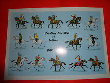 starlux document  - lot 2    - planche indien cow-boys