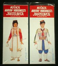 Paperdolls boy & girl in Montenegro folk costume ethnic dress Former Yugoslavia