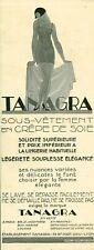 Publicité ancienne sous-vêtement Tanagra 1925 issue de magazine