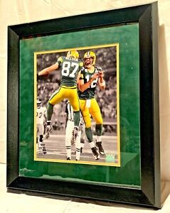 """Aaron Rogers & Jordy Nelson Framed And Double Matted Picture 23"""" X 20"""" NFL"""