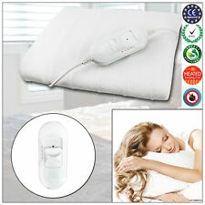 240v Electric Heated Double Under Blanket Soft Warm Mattress Bed Bedding Cover