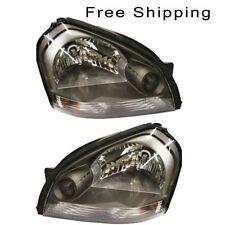 Halogen Head Lamp Assembly Set of 2 LH & RH Side Fits 2005-2009 Hyundai Tucson