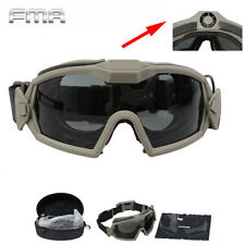 FMA Anti-Fog Goggles w/ Fan & 2 Lens Airsoft Paintball Durable Protector Glasses