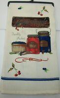 Kay Dee Homemade Cherry & Blueberry Preserves Jam Kitchen Dish Towel NWOT