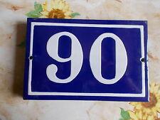ANCIEN NUMERO *90* EMAILLE DE MAISON  PLAQUE EMAILLEE DE RUE 15cmx10cm