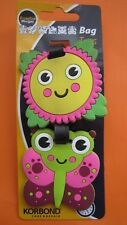 Korbond Bag Tags for Lunch Boxes, School Bags, Luggage Flower and Butterfly