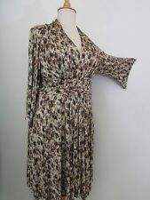 SUZI CHIN FOR MAGGY BOUTIQUE Brown Print Dolman Sleeve A-Line Dress-Size 16W