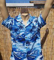 ROYAL CREATIONS Hawaiian Shirt Size XL Aloha Tiki Surf Palm Outrigger Aloha