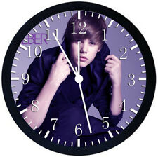 Justin Bieber Black Frame Wall Clock Nice For Decor or Gifts W141