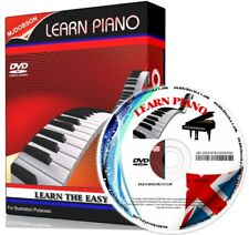 More details for piano keyboard comprehensive video tuition lessons pc dvd free post