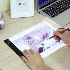 A4 LED Drawing Board Tracing Light Box Tattoo Art Stencil UltraThin Lightbox Pad
