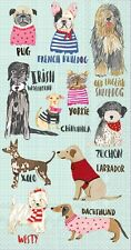 HOT DOGS PUG, BULLDOG, YORKIE, LAB, WESTIE,ETC  PAPER BUFFET NAPKINS GUEST TOWEL