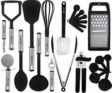 Cooking Utensils Set Stainless Steel 23 Piece Heat Resistant Kitchen Utensils