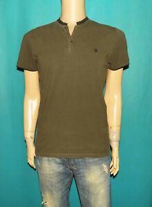 THE KOOPLES tee-shirt homme en coton kaki et noir taille M