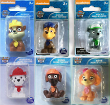Paw Patrol Mini Figure RUBBLE, ZUMA, CHASE, SKY, ROCKY, & MARSHALL (LOT OF 6)