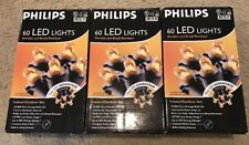 New SET of 3-PHILIPS 60 LED Dome Lights ~ Orange