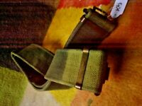 K5  3 X AUSTRALIAN ARMY BELTS WITH BRASS 100 cm WITH 2 SPARE 110 cm SEE PICS