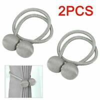Pair Magnetic Ball Curtain Tiebacks Tie Backs Buckle Clips Holdbacks Home Blinds
