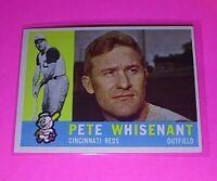 1960 Topps #424 WB Pete Whisenant Reds NmMt High Grade Sharp!