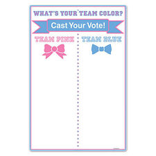 Baby Shower Party GENDER REVEAL OF BOY OR GIRL TEAM VOTING TALLY BOARD