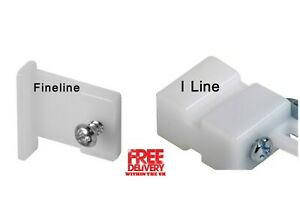 Speedy I line Track End Stop / Fineline Track End Stop White Colour
