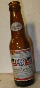 Vintage ACL Painted Label Beer Bottle Camden Lager New Jersey NJ 1950's