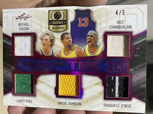 2019 Leaf In the Game Used Sports The 10 Jersey Card #T10-07 #'D 4/5 Jordan Kobe