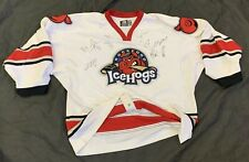 Rockford IceHogs Jersey Signed UHL (flaws)