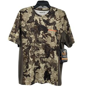 Nomad Men's Icon T-Shirt Veil Cervidae Camo Moisture Wicking Hunting Tee S/Small