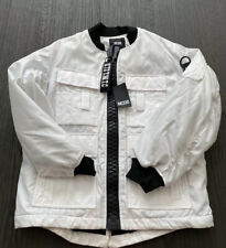 authentic Ktz Runway Bomber Jacket White Pocket Oversize Sz M