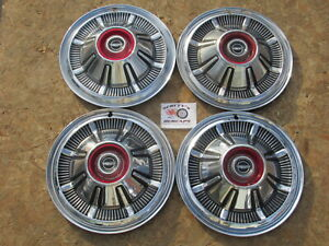 """1966-77 FORD PICKUP TRUCK, BRONCO 15"""" WHEEL COVERS, HUBCAPS, SET OF 4 ~OEM~"""