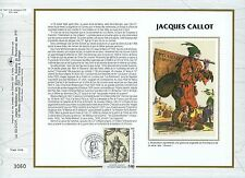 FEUILLET CEF / DOCUMENT PHILATELIQUE / TABLEAU / JACQUES CALLOT 1992 NANCY