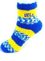 For Bare Feet UCLA Bruins Gold & Blue RMC Fuzzy Socks
