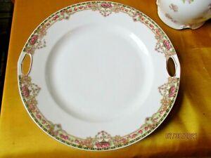 "Vintage Victoria China Czechoslovakia 9"" Cake Plate"