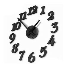 @New DIY Adhesive Decal Modern Wall Digit Number Room Interior Decoration Clock
