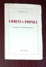 39964 Alfredo Cucco - Uomini e popoli - Pezzino ed. 1951 ?