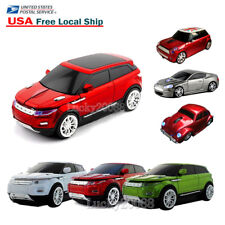 Portable USB 2.4Ghz Wireless Optical Car Mouse Cordless Laptop PC Gaming Mice US