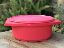 Tupperware Large Tortilla Keeper Server 12-cup Emberglow New