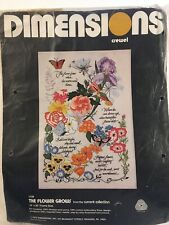 "New Dimensions ""The Flower Grows"" Crewel Kit #1138 14""x20"" frame size"