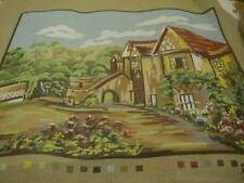 Village Street Scene Needlepoint Canvas 15x19 Inches #3041939
