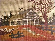 Needlepoint Canvas Hand Stitch Painted Rico Gobelin W Germany 12/24 Ct Muted