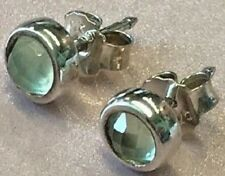 PANDORA   NATURAL LIGHT PREHNITE EARRINGS 290305PR *NEW* AUTHENTIC RETIRED RARE