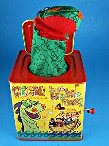 Vintage 1961 CECIL SEASICK SEA SERPENT Monster MUSIC Jack In The BOX MATTEL NiCe