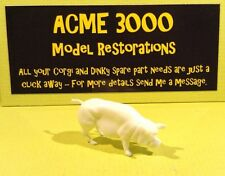 Corgi GS5 Agricultural Gift Set Reproduction White Plastic Pig Sow Straight Tail