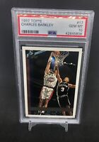 1997-98 Topps #17 Charles Barkley PSA 10 GM MT Houston Rockets POP 10