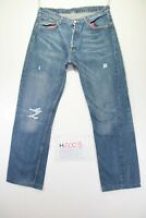Levi's 501 Customized (Cod. H2003) Tg48 W34 L34 ACCORCIATO jeans usato Levis